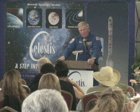 Astronaut Jonathan McBride at New Frontier Memorial Service