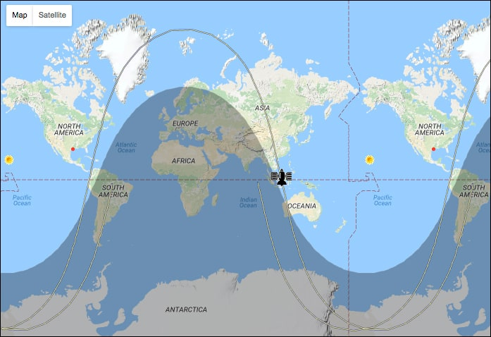 Tracking a Celestis satellite in Earth Orbit