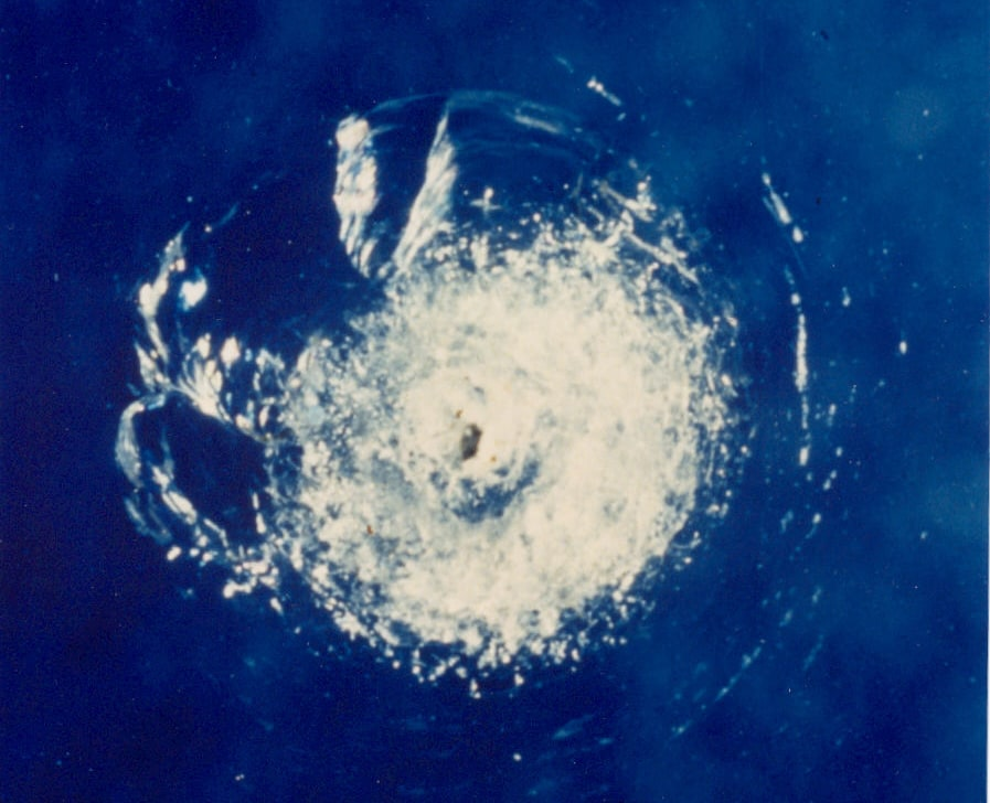 Orbital debris damage to NASA space shuttle window