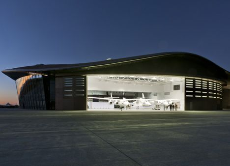 "The ""Gateway to Space"" terminal/hangar at Spaceport America."
