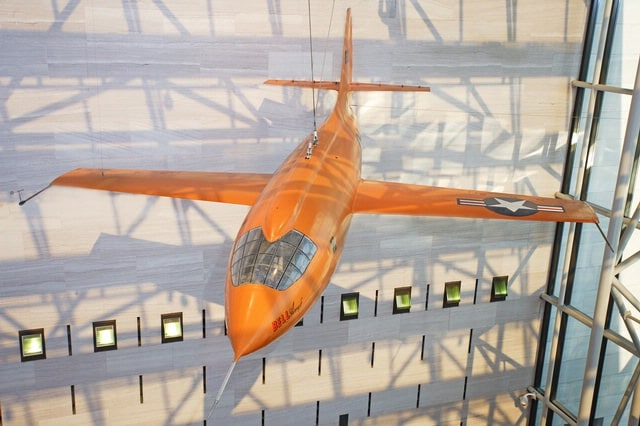 The Bell X-1 on display in the National Air and Space Museum, Smithsonian Institution