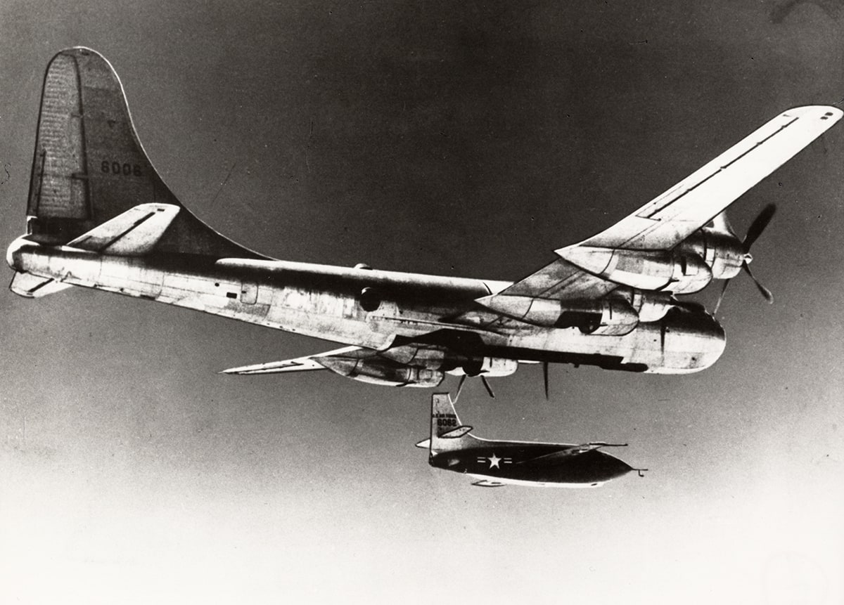 Bell X-1 released from a B-29 before ignition. Image Credit: U.S. Air Force