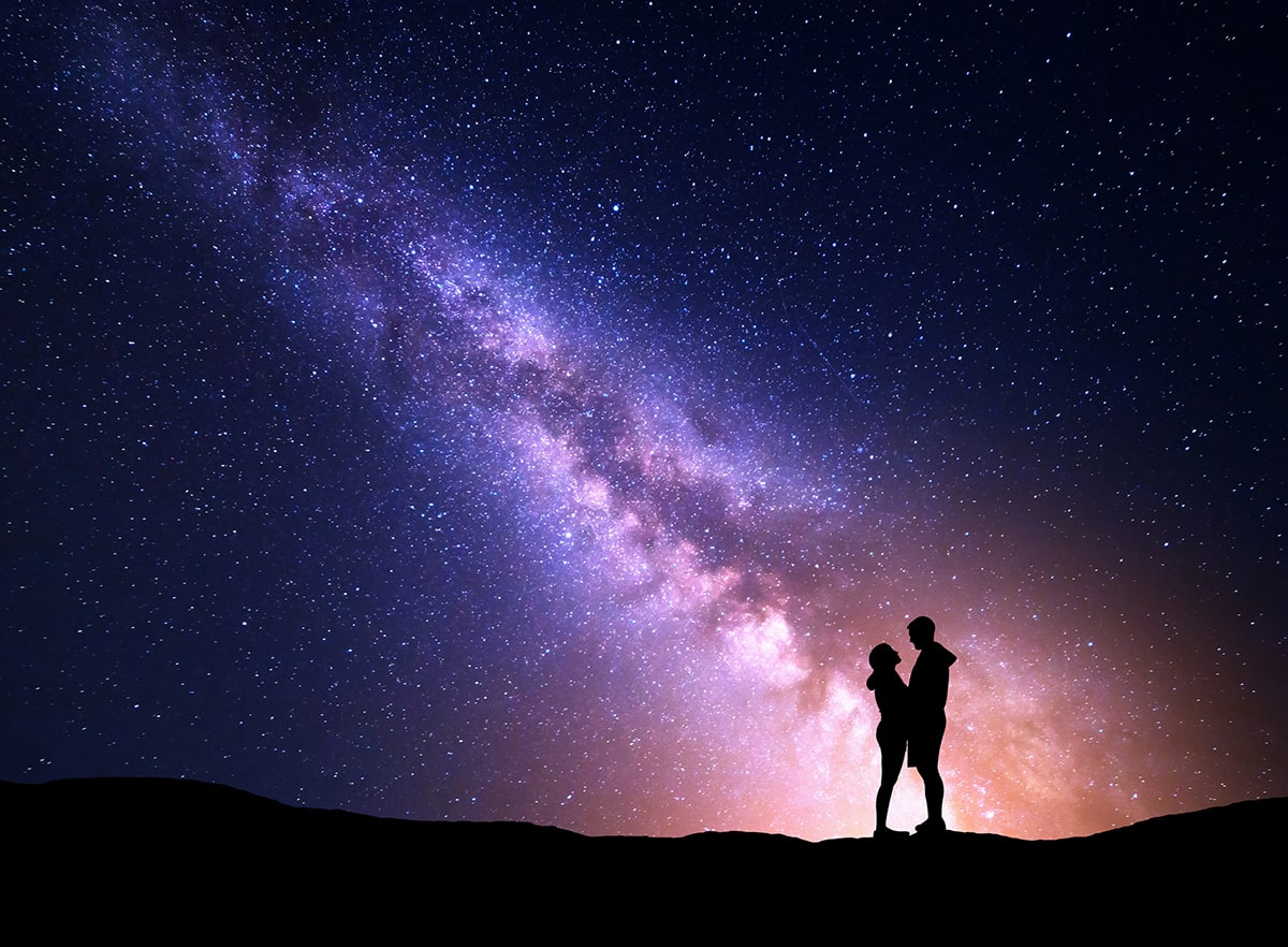 A couple under the stars