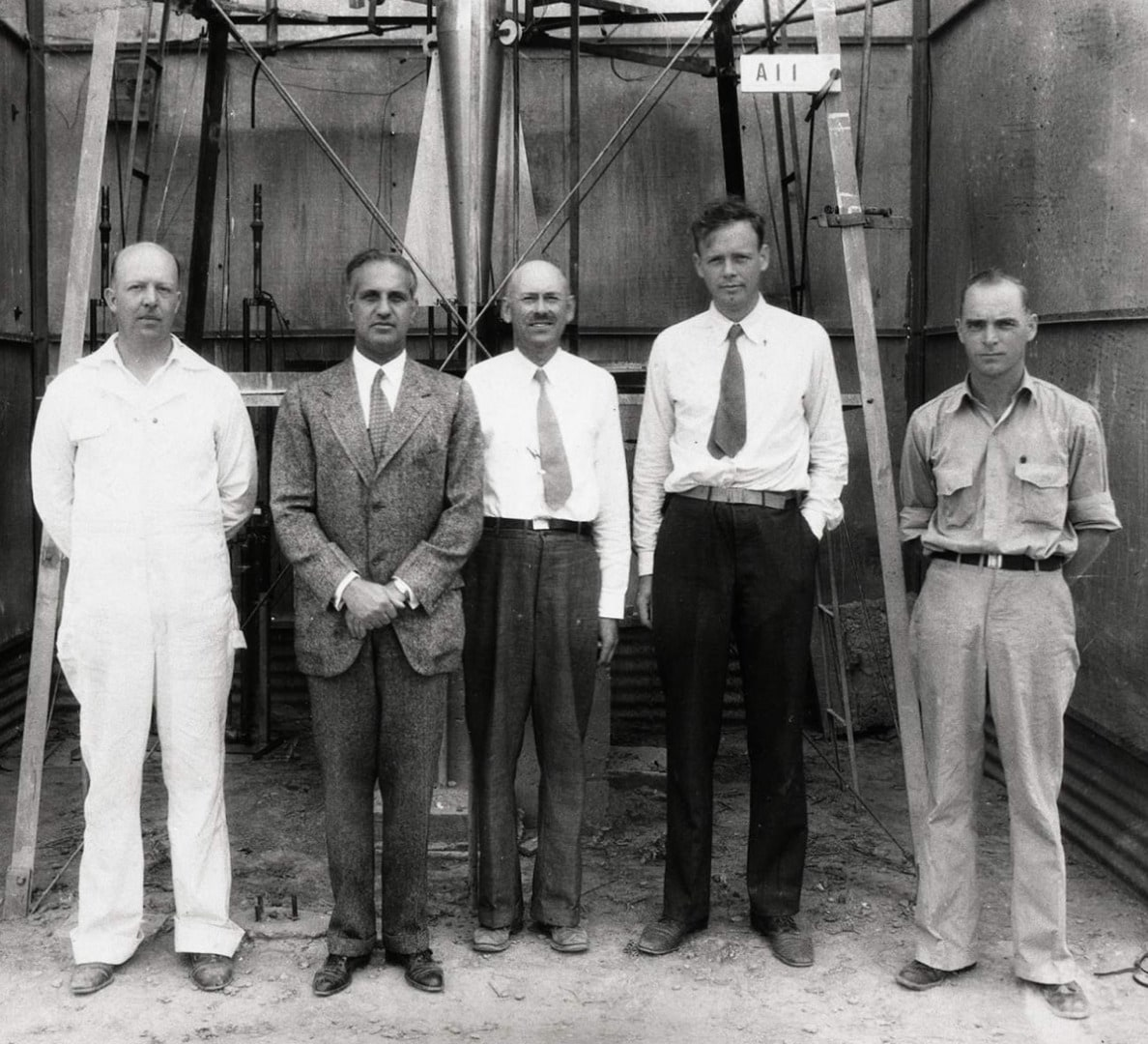 Robert Goddard, Charles Lindbergh and others in New Mexico